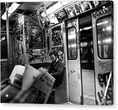 New York Subway Acrylic Print