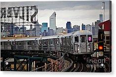 New York Train Acrylic Print
