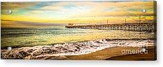 Newport Beach California Pier Panorama Photo Acrylic Print by Paul Velgos