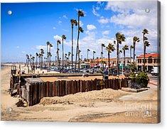 Newport Beach Dory Fishing Fleet Market Acrylic Print by Paul Velgos