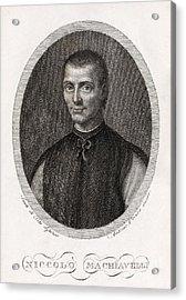 Niccolo Machiavelli, Italian Philosopher Acrylic Print