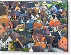 Niedermorschwihr, Alsace, France Acrylic Print by Peter Adams