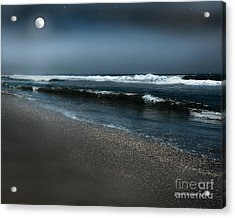 Night Beach  Acrylic Print
