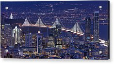 Night Colors - San Francisco Acrylic Print