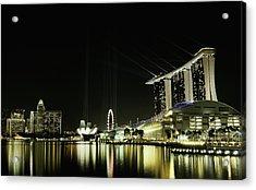 Night In The City Acrylic Print by Hardibudi