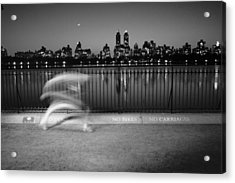 Night Jogger Central Park Acrylic Print