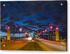 Night Lights Acrylic Print by Debra and Dave Vanderlaan