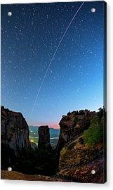 Night Sky Over Meteora Acrylic Print by Babak Tafreshi