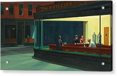 Nighthawks Acrylic Print by Edward Hopper