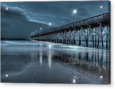 Nighttime At The Pier Acrylic Print