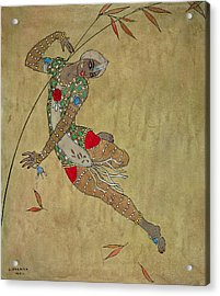 Nijinsky In Le Festin L'oiseau D'or Acrylic Print by Georges Barbier