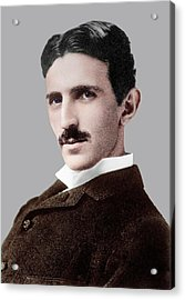 Nikola Tesla Acrylic Print by Library Of Congress