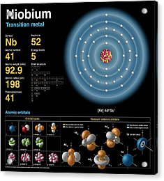 Niobium Acrylic Print by Carlos Clarivan