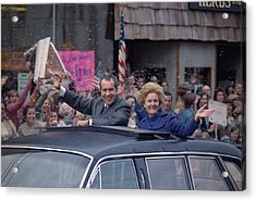 Nixon 1972 Re-election Campaign Acrylic Print by Everett