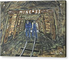 No Windows Down There In The Coal Mine .  Acrylic Print