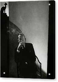 Noel Coward Smoking Acrylic Print