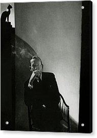 Noel Coward Smoking Acrylic Print