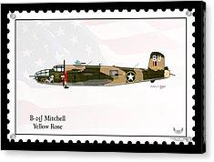 North American B-25j Mitchell Acrylic Print by Arthur Eggers