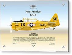 North American Snj-5 Acrylic Print by Arthur Eggers