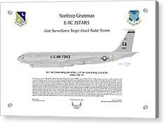 Northrop Grumman E-8c Jstars Acrylic Print by Arthur Eggers