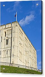 Norwich Castle Acrylic Print by Tom Gowanlock