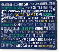Notre Dame Football Acrylic Print
