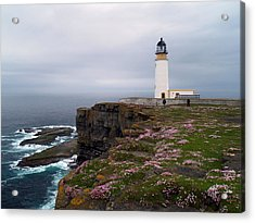 Noup Head Lighthouse Acrylic Print by Steve Watson