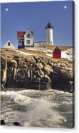Nubble Lighthouse 3 Acrylic Print by Joann Vitali