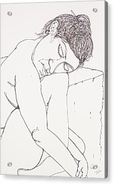 Nude At Rest Acrylic Print
