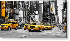 Nyc Yellow Cabs - Ck Acrylic Print