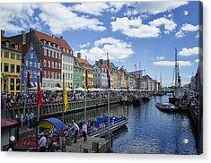 Nyhavn - Copenhagen Denmark Acrylic Print by Jon Berghoff