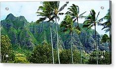 Oahu Mountains Acrylic Print by Brigitte Emme
