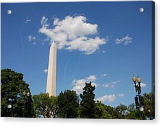Obelisk Rises Into The Clouds Acrylic Print