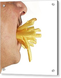 Obesity And Junk Food Acrylic Print by Victor De Schwanberg