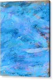Ocean Blue Abstract Acrylic Print by Frank Tschakert