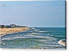 Ocean Front Acrylic Print by Carolyn Ricks