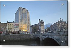 O'connell Bridge Dublin Ireland Acrylic Print by Betsy Knapp