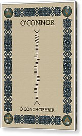 Acrylic Print featuring the digital art O'connor Written In Ogham by Ireland Calling