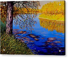 Acrylic Print featuring the painting October Afternoon by Sher Nasser