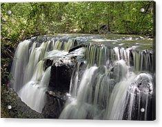 Odom Creek Waterfall Georgia Acrylic Print by Charles Beeler