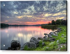 Ohio Lake Sunset Acrylic Print