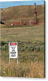 Oil Drilling Acrylic Print by Jim West
