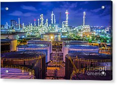 Oil Refinary Industry  Acrylic Print