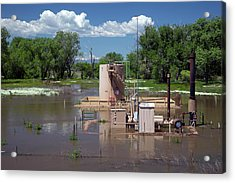 Oil Well Flooded By River Acrylic Print