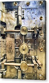 Old Bank Vault In Historic Building Acrylic Print