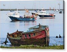 Old Boat Acrylic Print by Svetlana Sewell