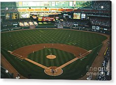 Acrylic Print featuring the photograph Old Busch Field by Kelly Awad