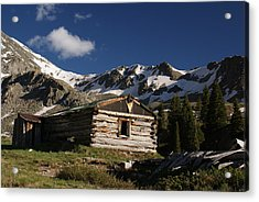 Old Cabin In Rocky Mountains Acrylic Print by Michael J Bauer
