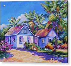 Old Cayman Cottages Acrylic Print by John Clark