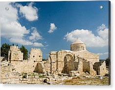 Acrylic Print featuring the photograph Old Church Anogyra  by Jeremy Voisey